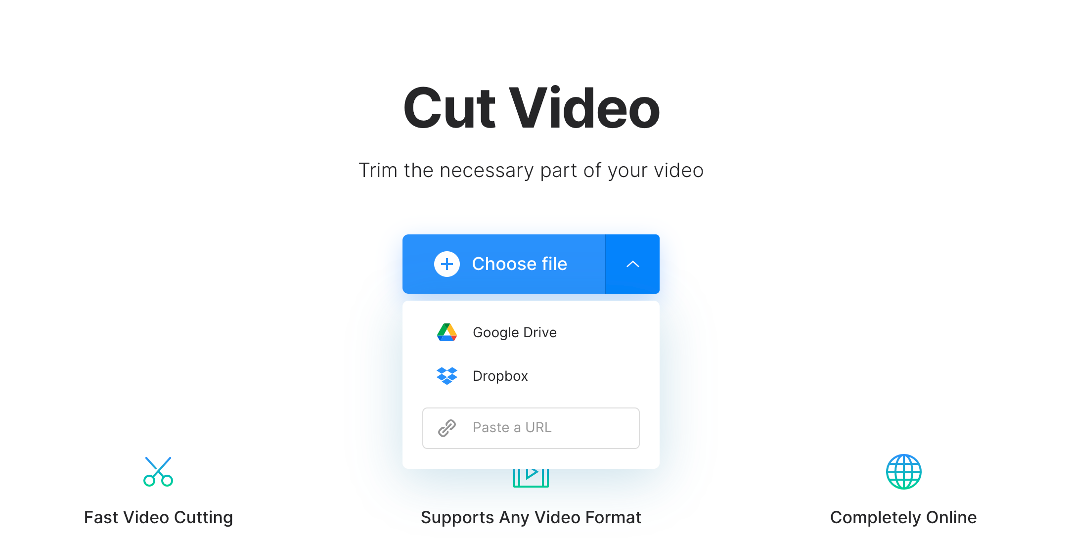 Upload video to take a clip from it