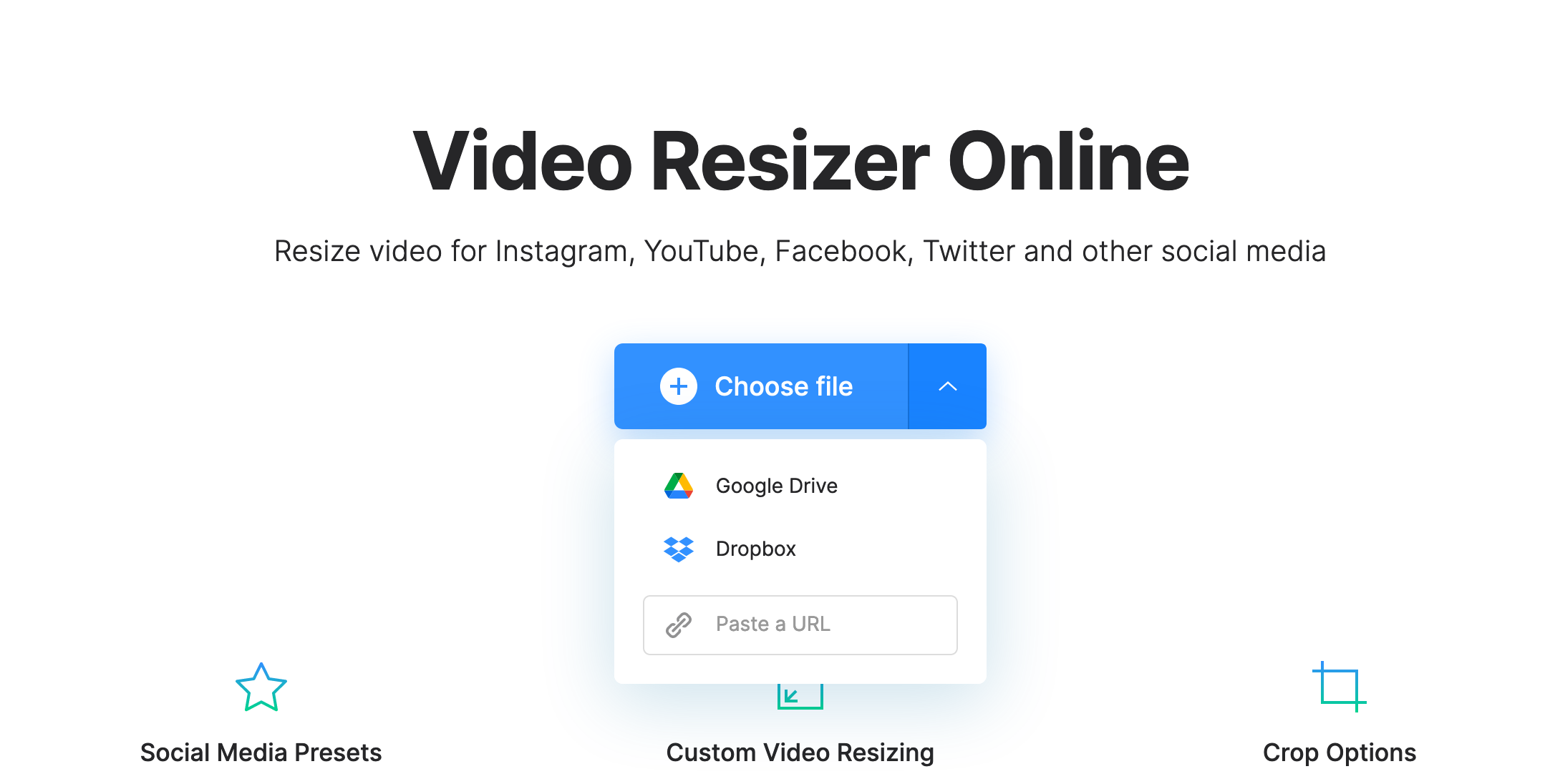 Upload video with 2K resolution