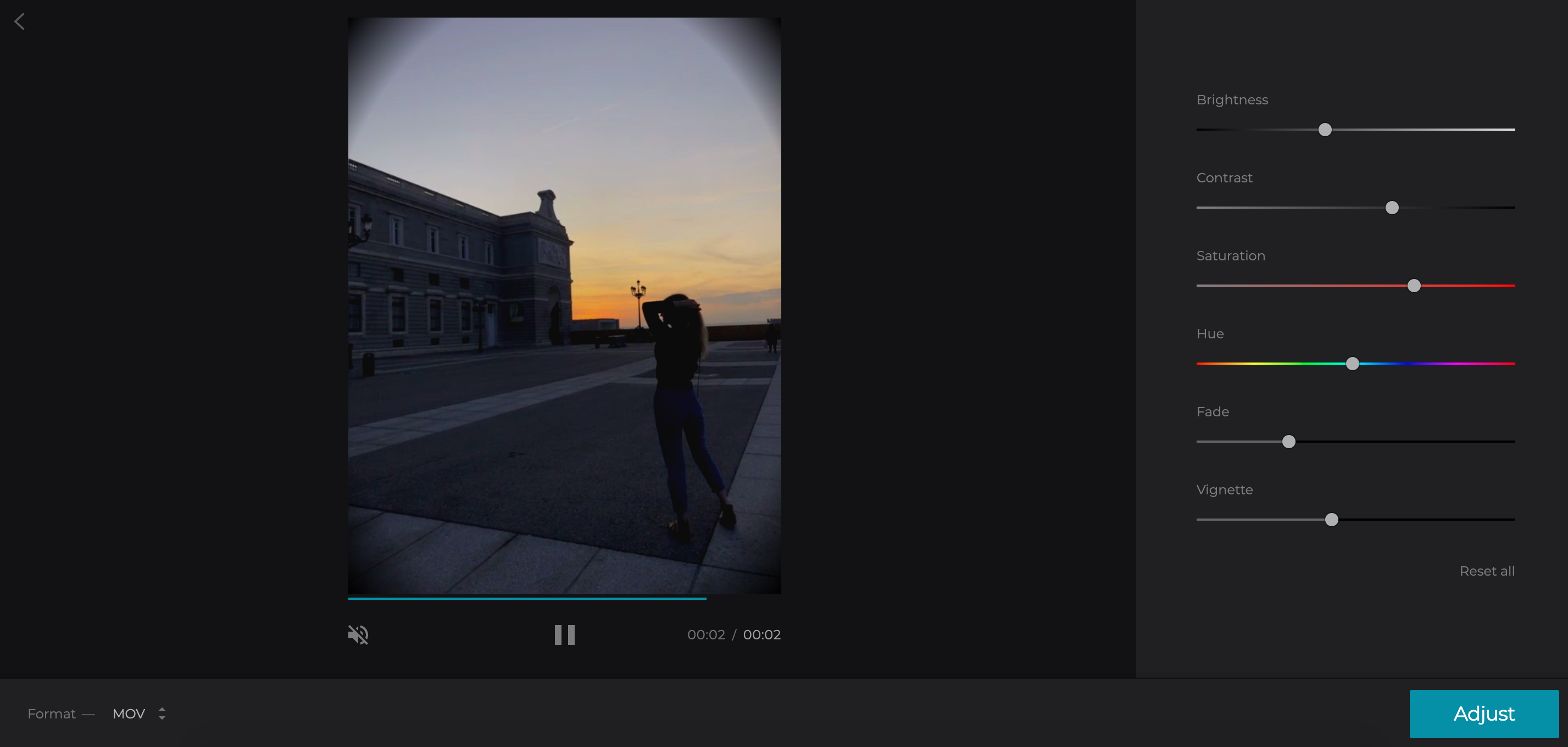 Add vignetting to your video