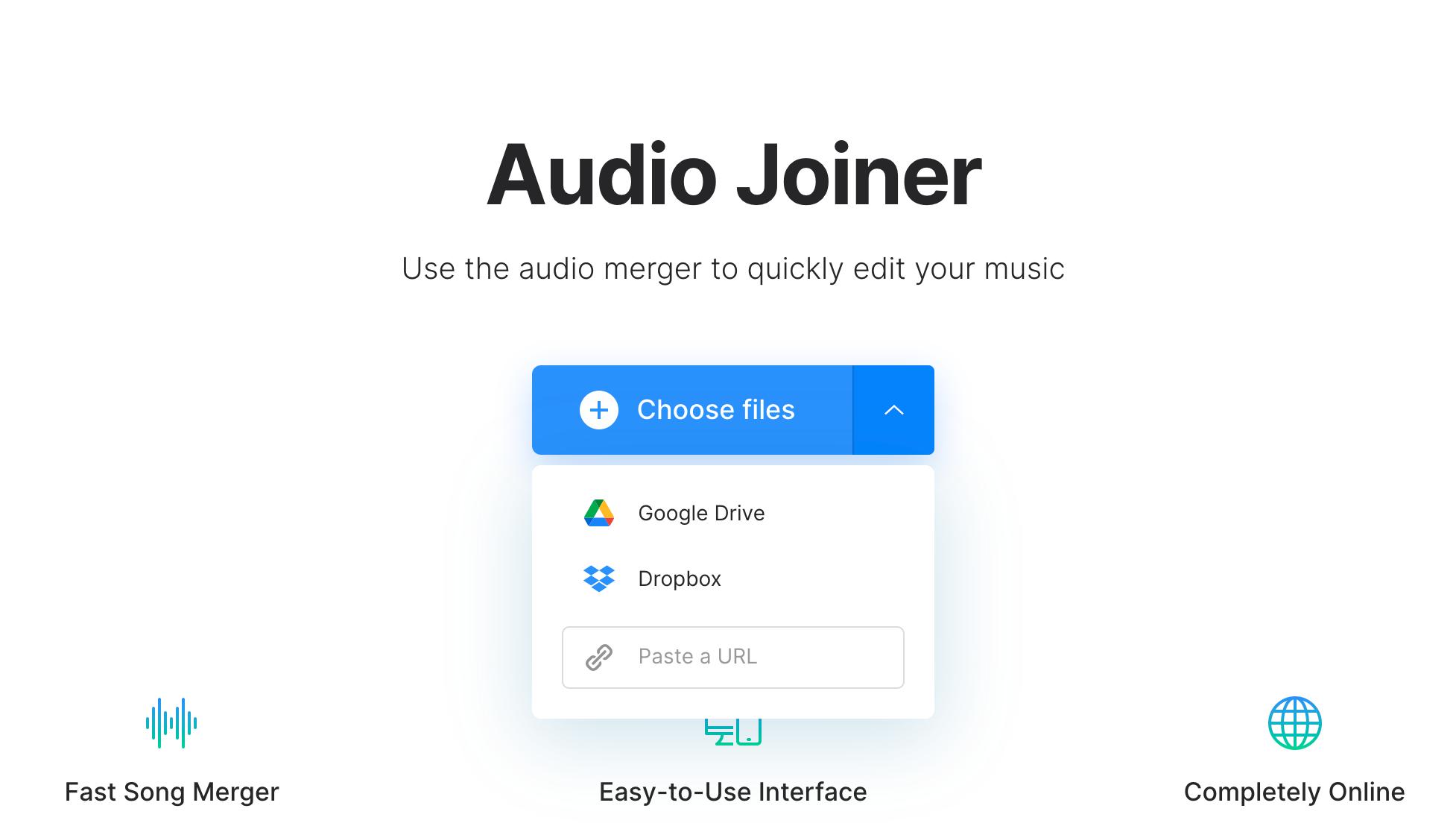 Upload voice memos to combine