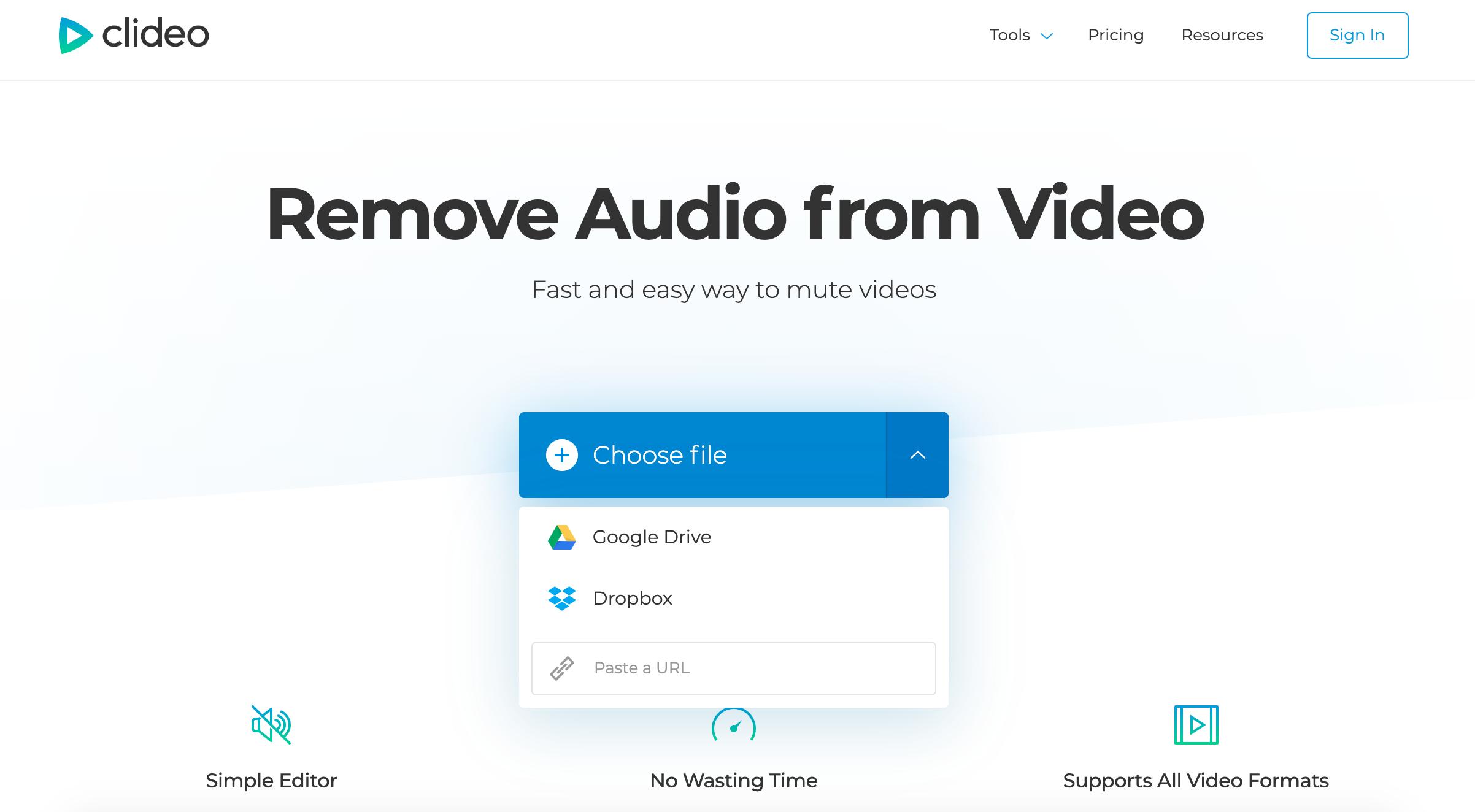 Add Windows video to remove audio