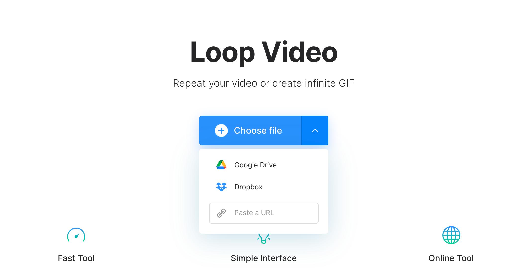 Upload YouTube video to loop