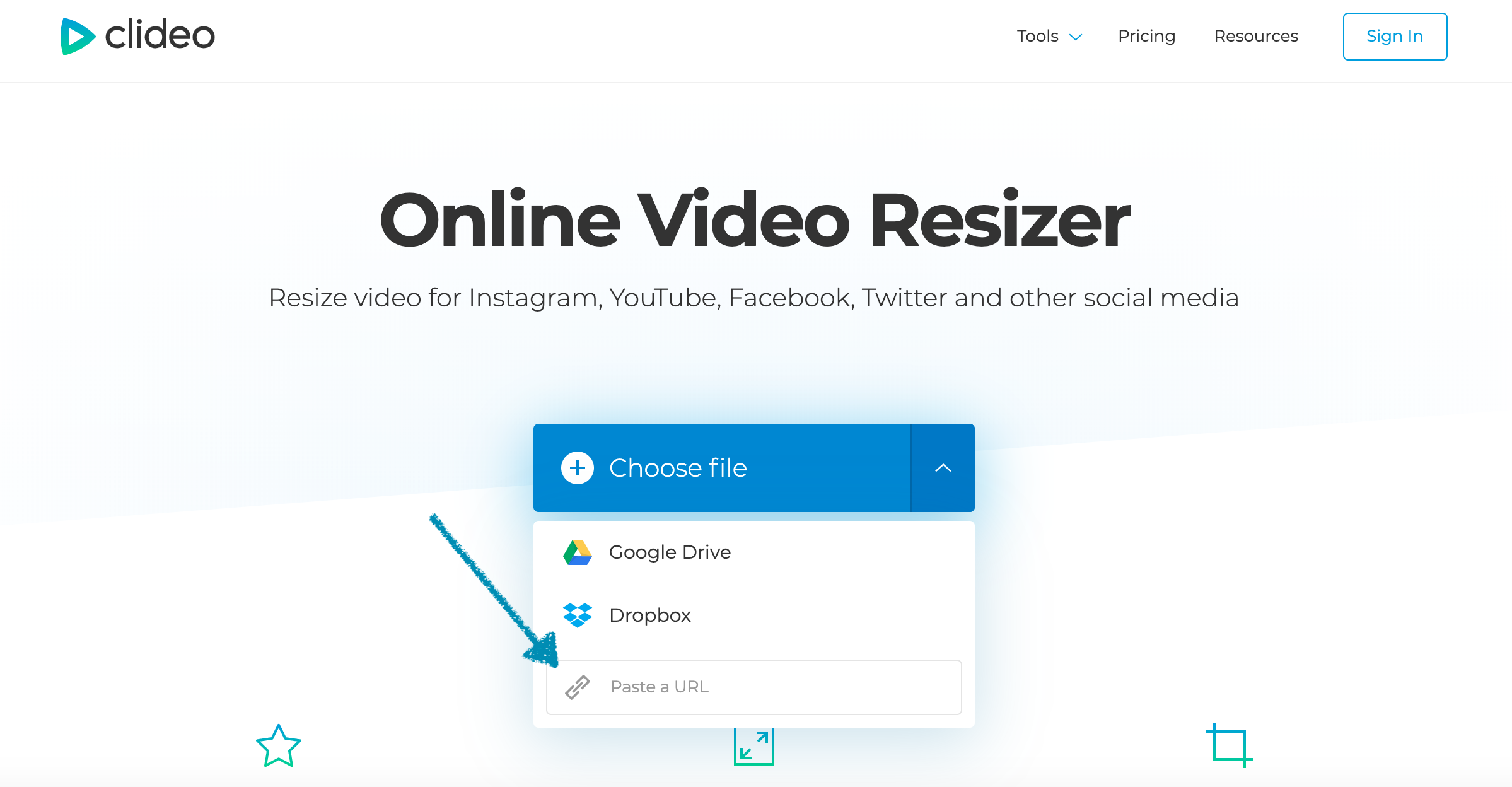 Upload YouTube video you want to post on Instagram
