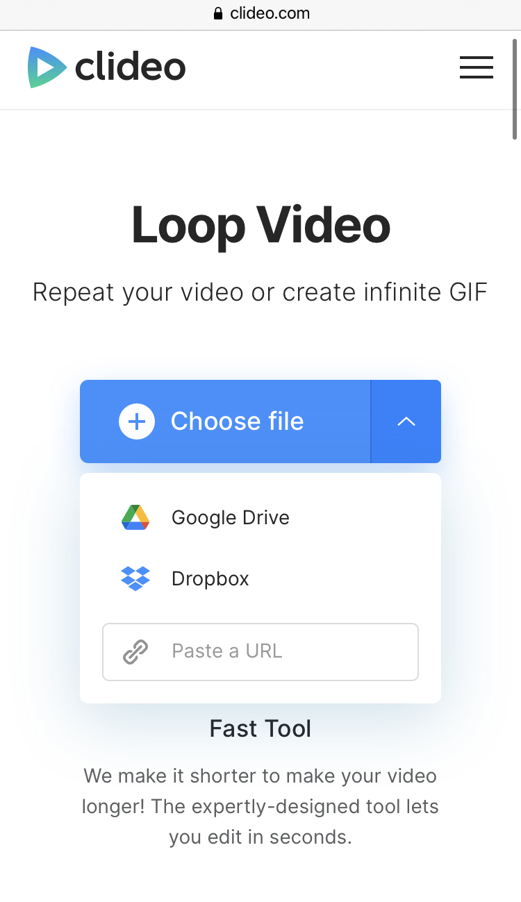 Upload YouTube video to repeat on iPhone