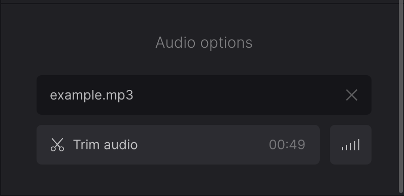Cut audio for picture slideshow on Mac