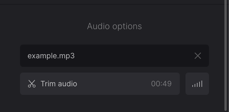 Edit music added to slideshow