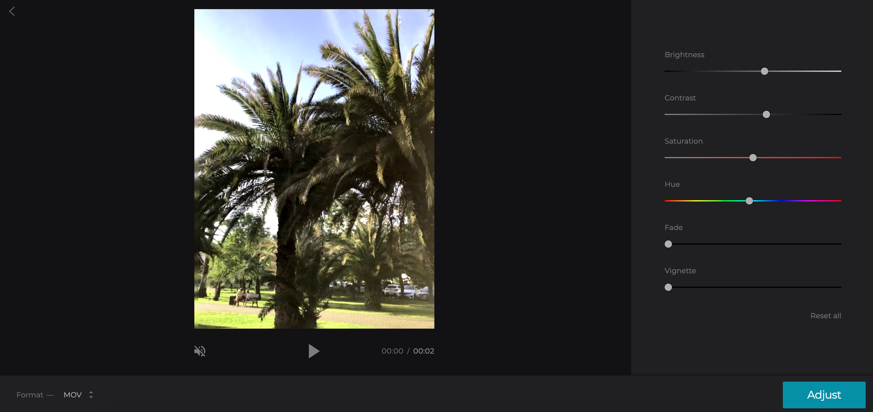 Adjust different settings to make the video clearer