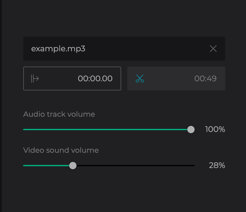 Trim voiceover for video