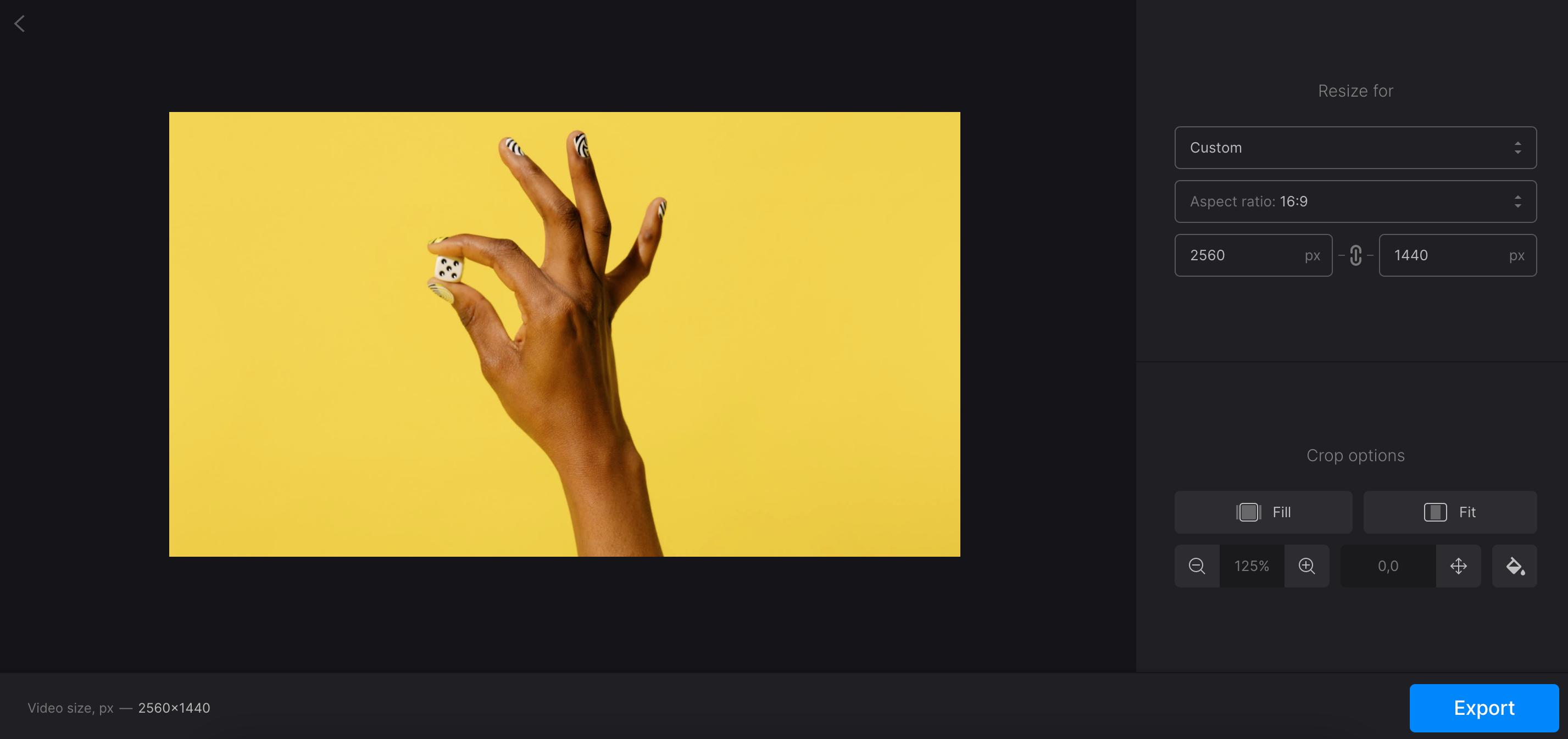 Adjust YouTube banner size