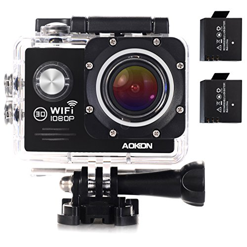 GoPro alternative Aokon ARC500 with two batteries
