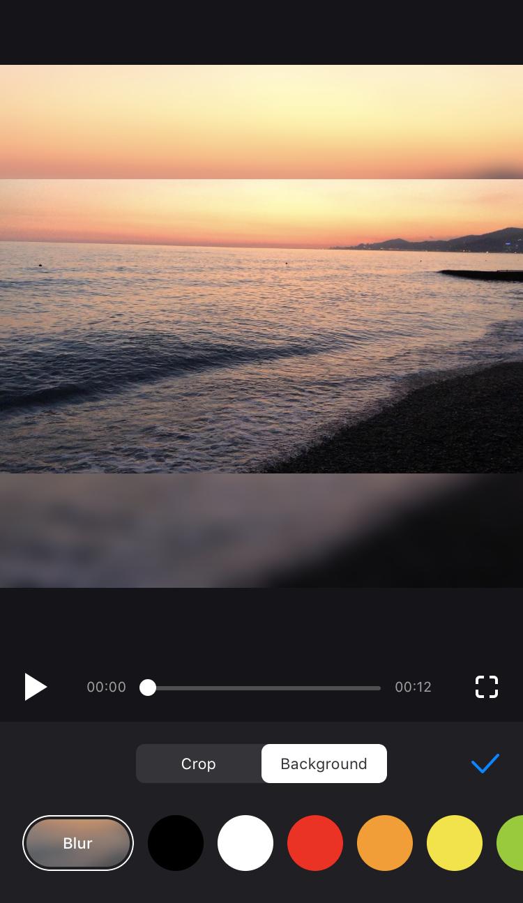 Set color for borders in Instagram resize app