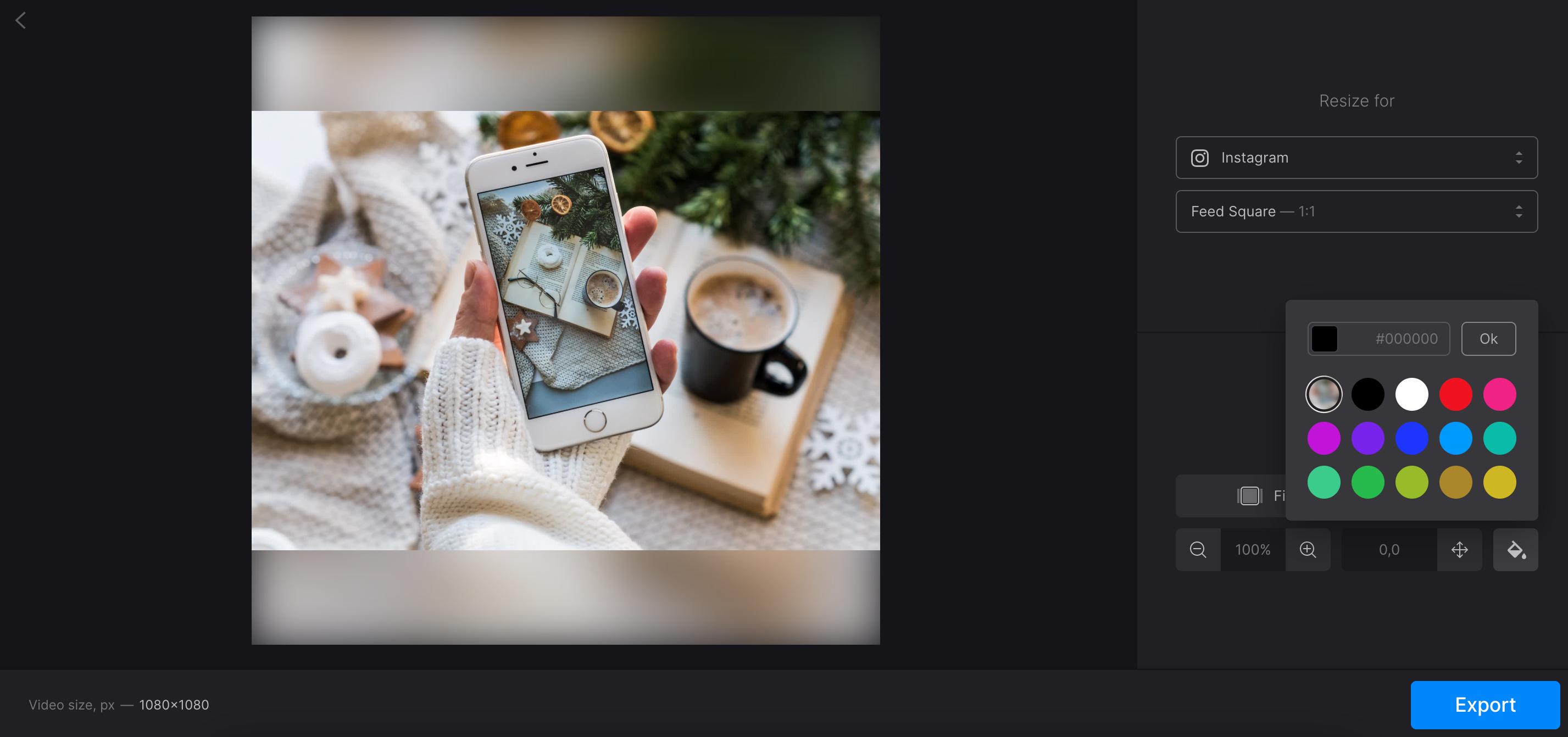 Change file's aspect ratio for social media