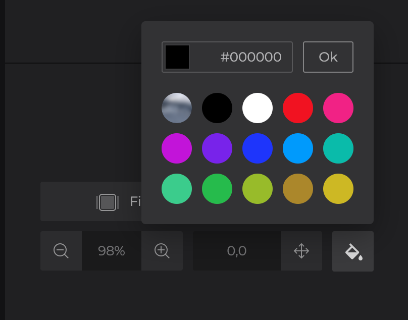 Select color for black bars