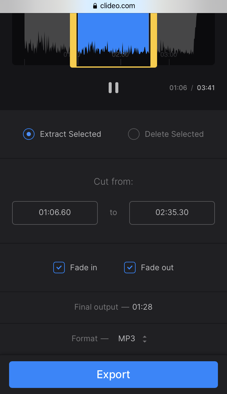 Change format of custom ringtone on Android