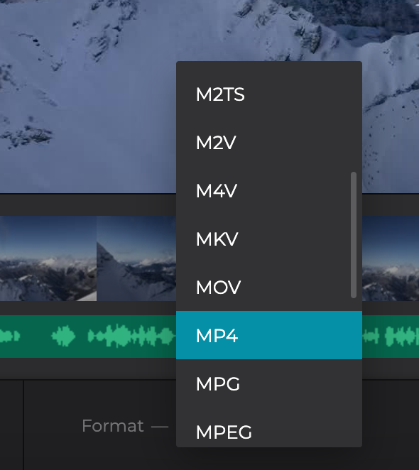 Convert the video with music to other format