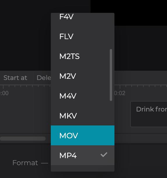 Change format of video with SRT subtitles