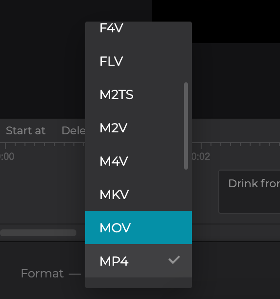 Change format of Vimeo video with captions