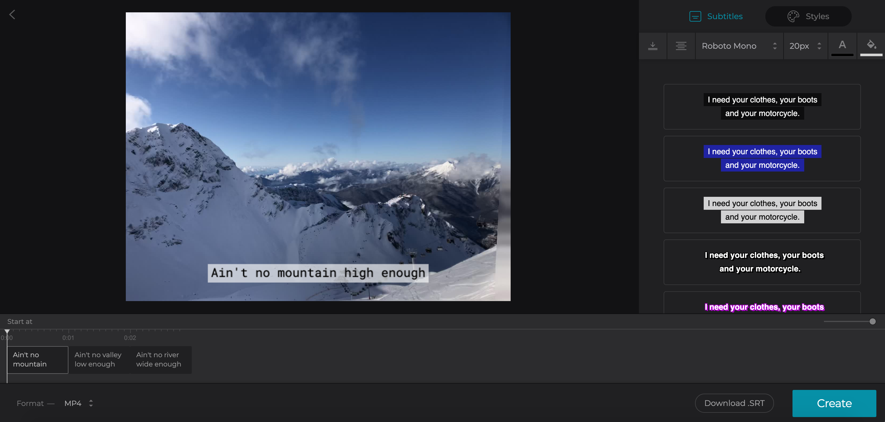 Change colour and font of added subtitles