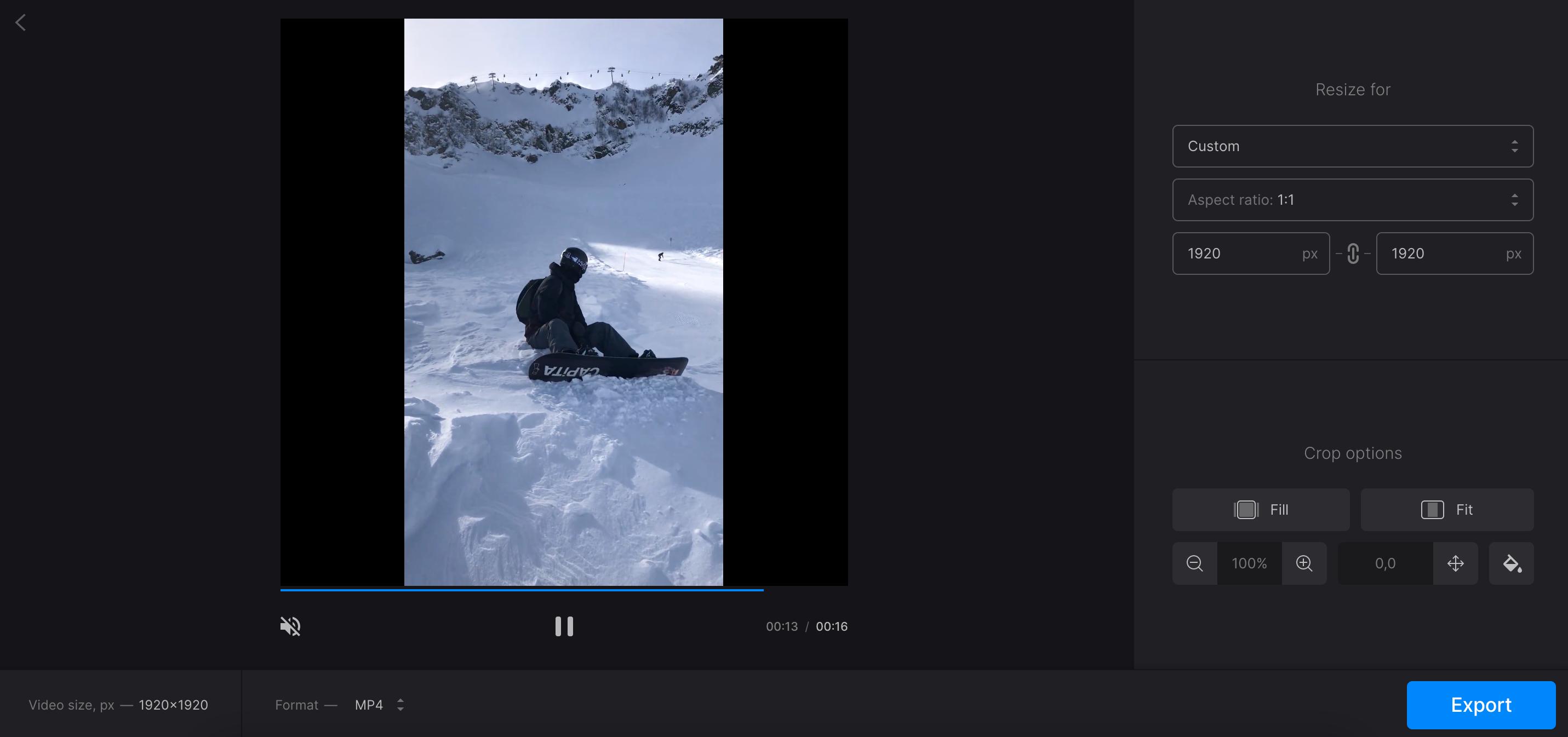 Adjust native resolution of video