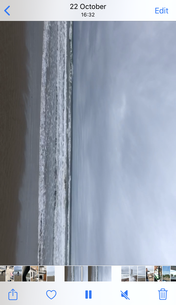 Choose a video to rotate in iPhone Photos
