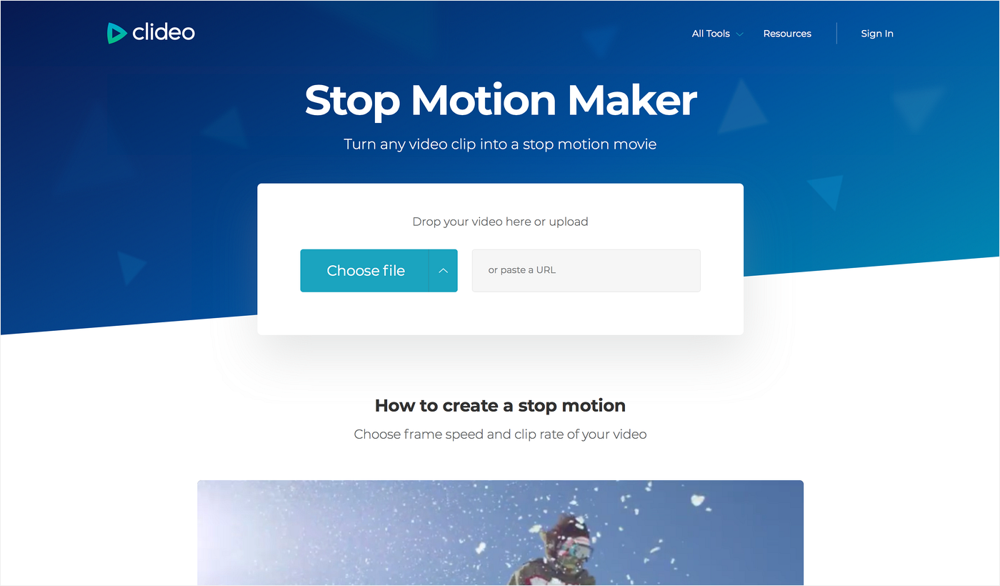 Choose a video to make a stop motion animation