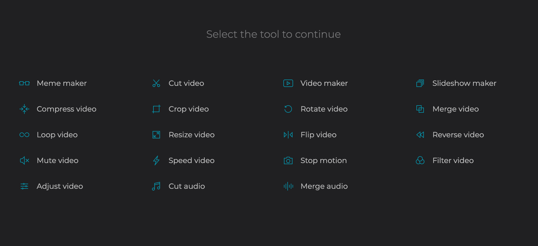Continue editing the GIF with other Clideo tools
