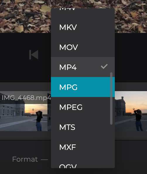 Change format of merged AVI