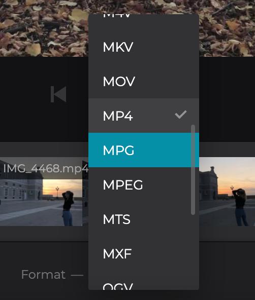 Convert combined MP4