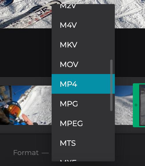Change format of cut AVI