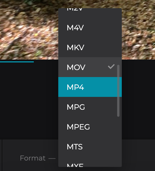 Change format of video to upload to Instagram