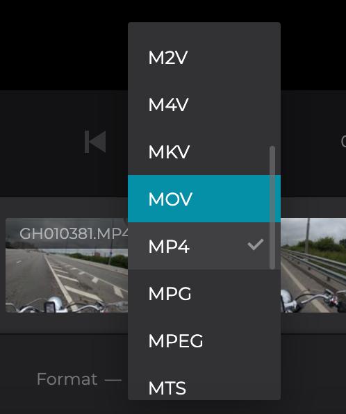 Change format of merged video on Windows