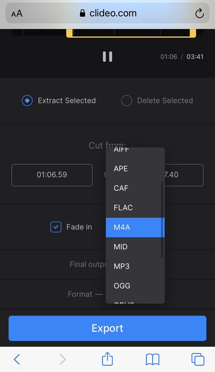 Change format of ringtone on iPhone