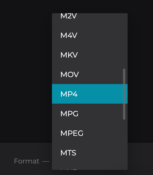 Change format of rotated MOV file