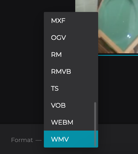 Change format of rotated Windows video