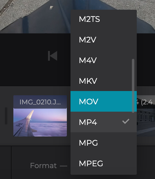 Change format of slideshow on Mac