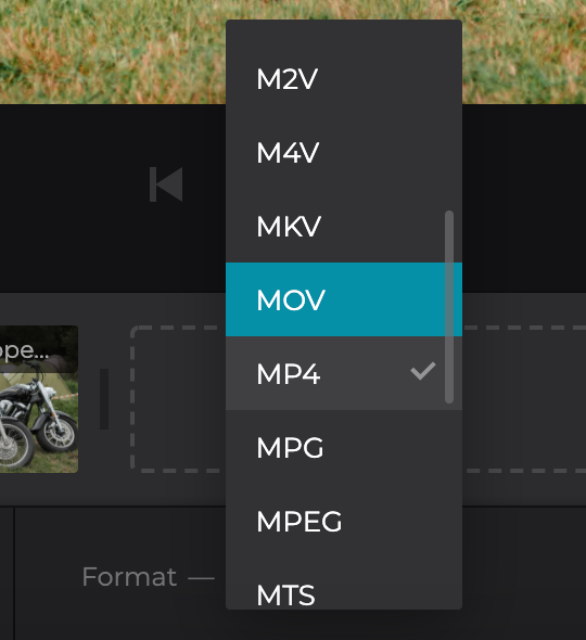 Change format of video from photos