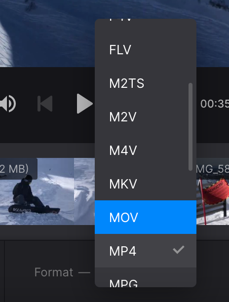 Change format of video in iMovie alternative for Windows