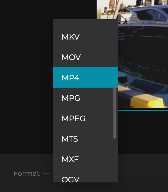 Change video format in the Video Enhancer