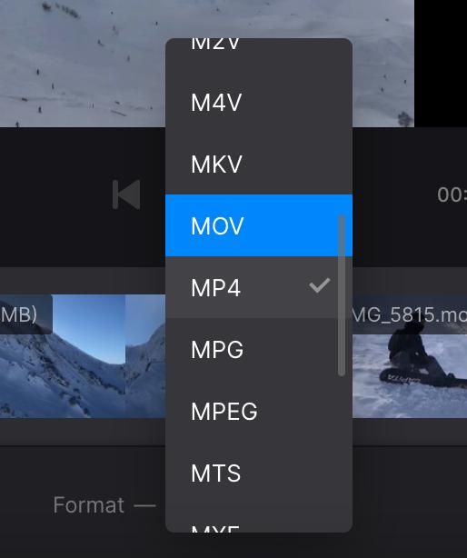 Change format of video mashup