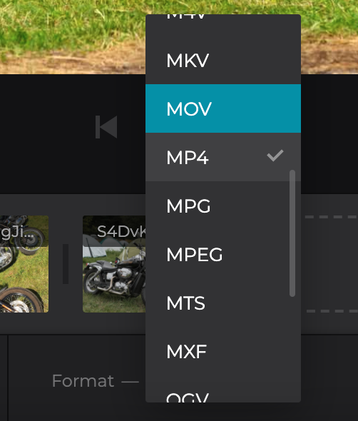 Change format of video with photo