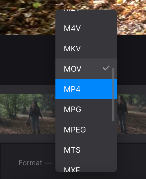 Change format of video with Instagram length