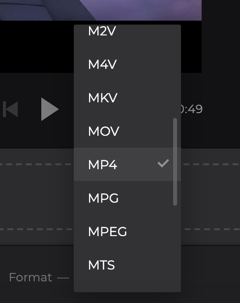 Change format of the video with MP3