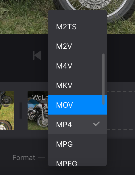 Change format of video with picture and music