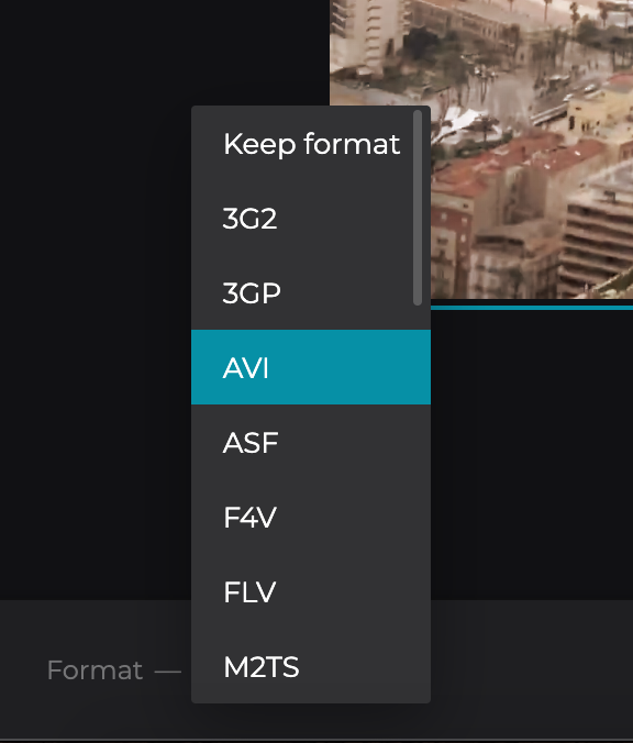 Change format of the old-fashioned video