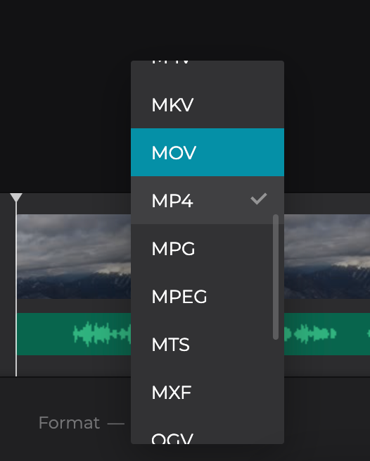 Change format of video with voiceover