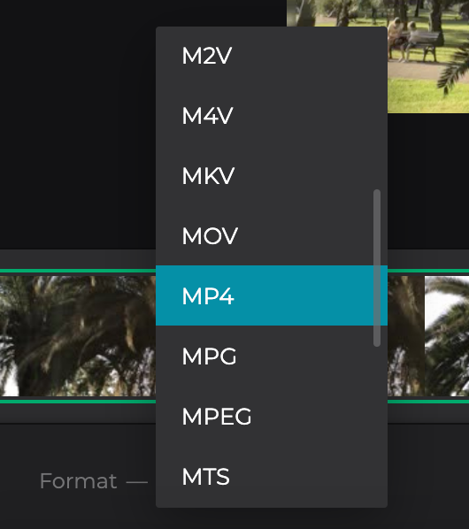 Change format of Vimeo video to MP4