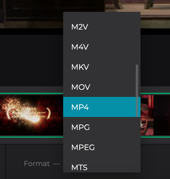 Change format of the video before copying