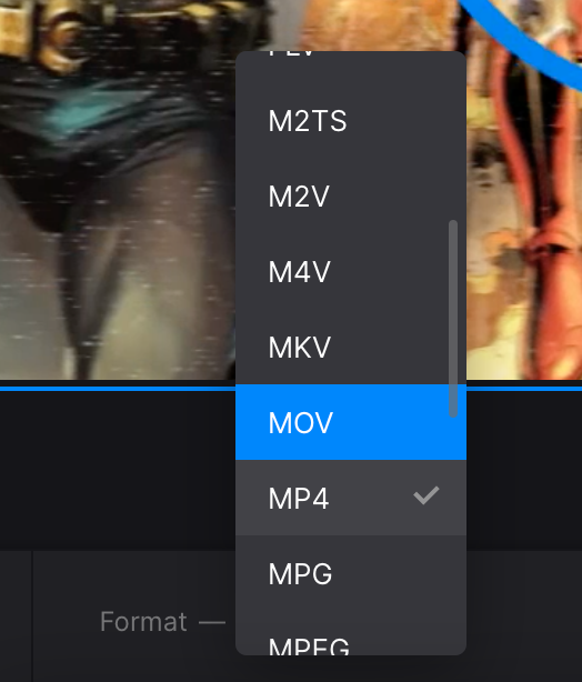 Change format of YouTube video with changed aspect ratio