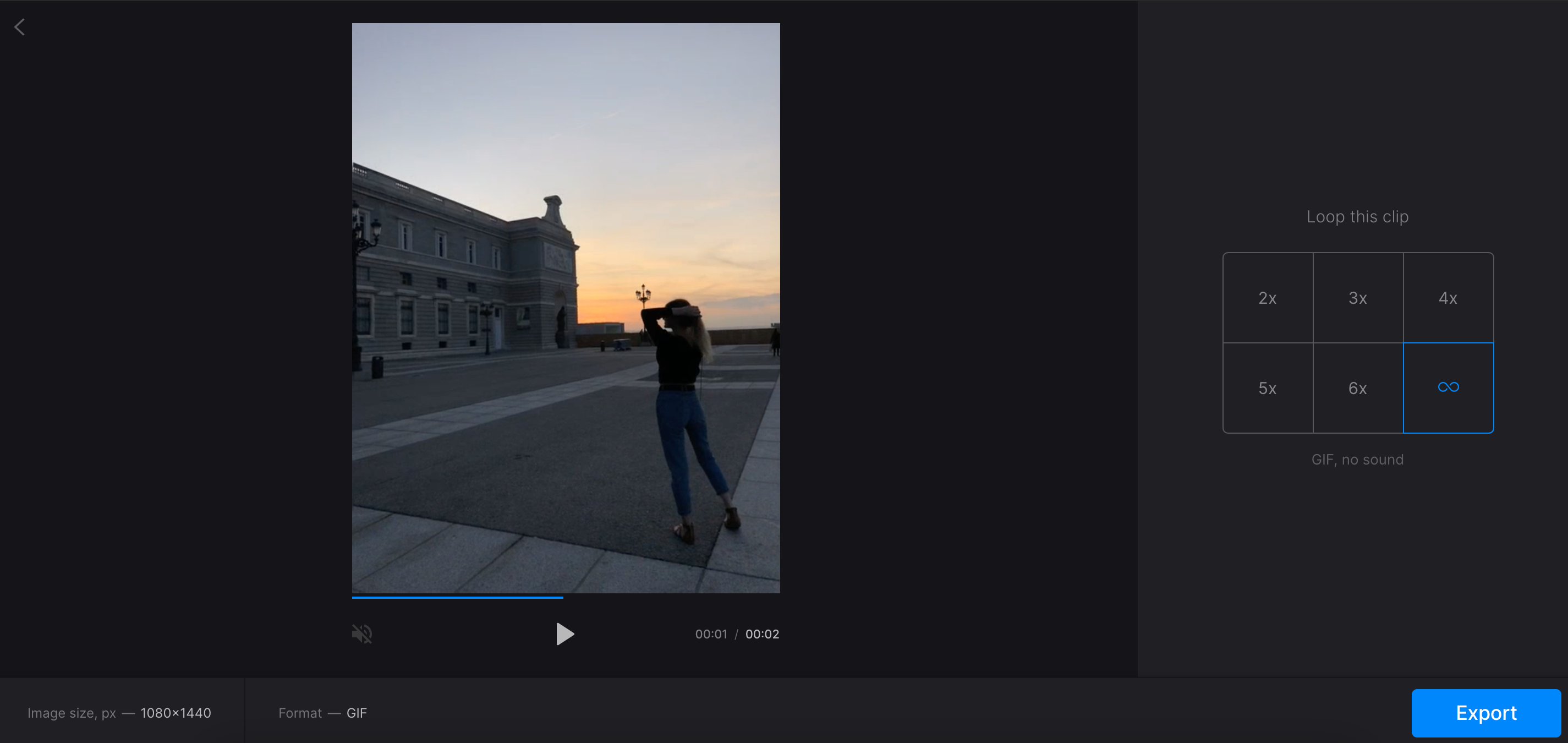 Create a GIF from the video