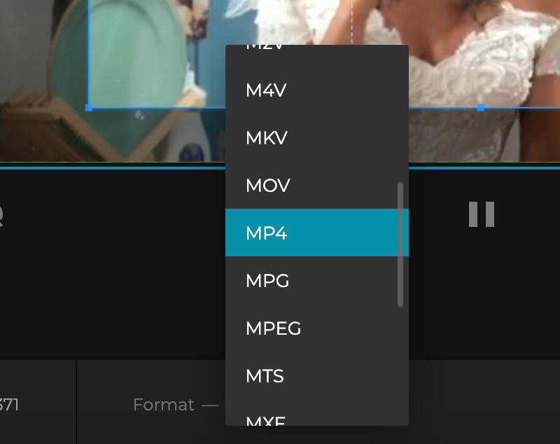 Choose format for the cropped video for iPhone